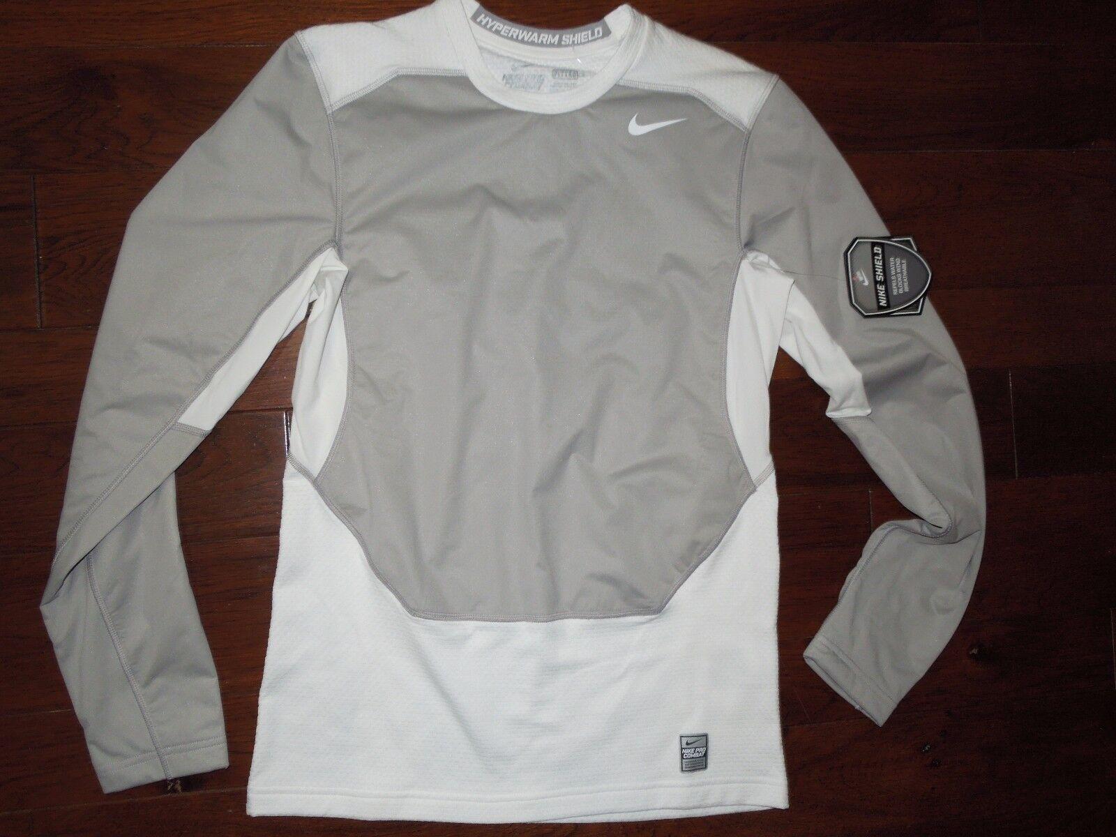 Pigmento salida Babosa de mar  Nike Pro Combat Max Hyperwarm Dri-fit Max Shield Shirt size SMALL retail  $80 for sale online
