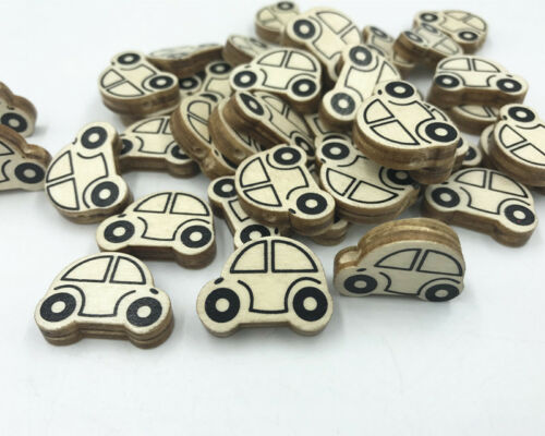 Naturel en bois voiture forme loose beads for jewelry making Baby Pacifier Clip 25 mm