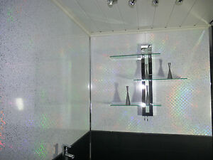 White Sparkle Ceiling Cladding Nakedsnakepresscom - White sparkle bathroom cladding