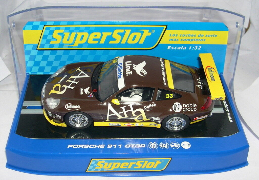 SUPERSLOT H3084 PORSCHE 911 GT3R AH-A RACING SCALEXTRIC UK MB