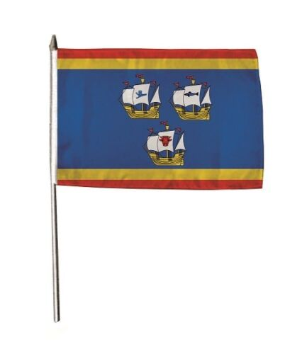 Stockflagge Fahne Flagge Eiderstedt Nordsee  30 x 45 cm