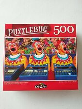 Details about  /Puzzlebug CraZArt 500 pc Puzzle Ping Pong Clowns Midway Carnival 18.25 x 11 New