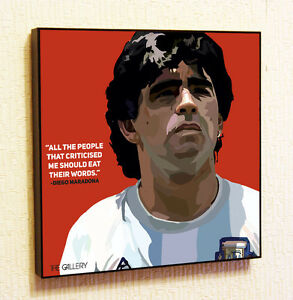 Diego-Maradona-Soccer-Football-Painting-Decor-Print-Wall-Art-Poster-Pop-Canvas