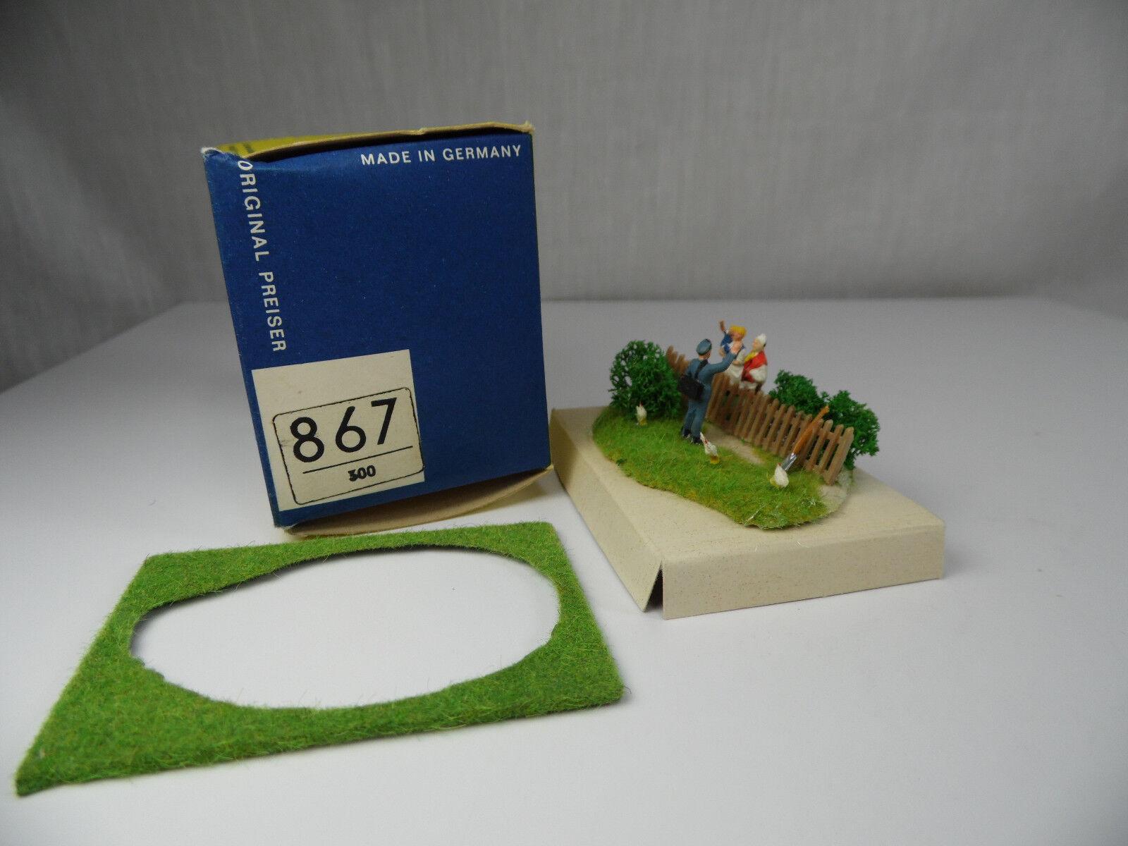 H1206, rar preiser 867 pequeño dioramas con figuras box 1 87 h0 ALT