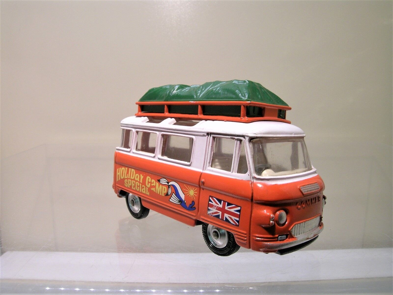 CORGI TOYS UK No.508 COMMER 2500 MINIBUS HOLIDAY CAMP SPECIAL Orange blanc 1 43