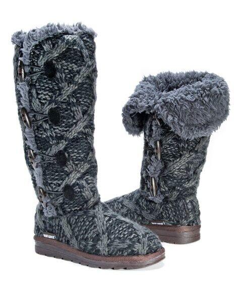 Mukluks Damens Knitted   Knitted Fleece Lined Winter Stiefel Größe UK 8-9 f8cf50