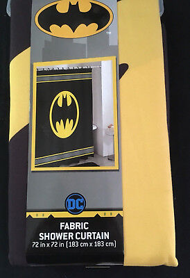 "Batman Logo Warner Brothers DC Comics Fabric Shower Curtain 72/"" FREE SHIPPING!!"