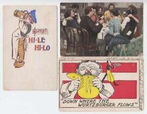C1176 : (3) 1900's Bière Boisson Cartes Postales