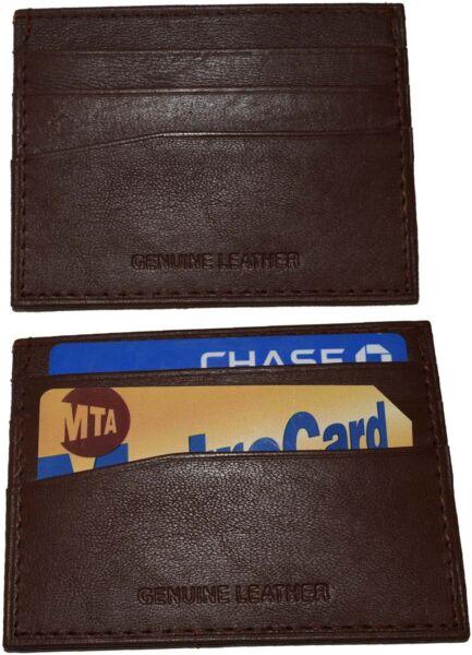 Discreto Lot Of 2 Nuovo Pelle Business Scheda Custodia 7 Credito Id Card Marroncino Bnwt Eccellente (In) Qualità