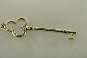 8320ff732 Tiffany & Co Trefoil Key Pendant Charm In Sterling Silver. Rare ...
