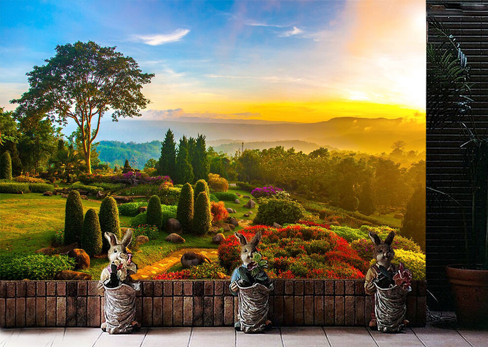 3D Park Sunset Scenery 1746 Paper Wall Print Wall Decal Wall Deco Indoor Murals