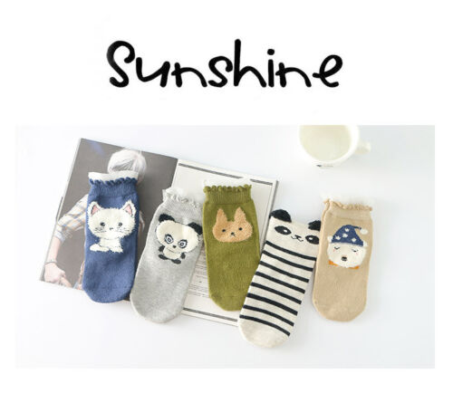 High Quality 5 Pairs Comfortable Socks Cotton Children/'s Fashion Baby Cute Socks
