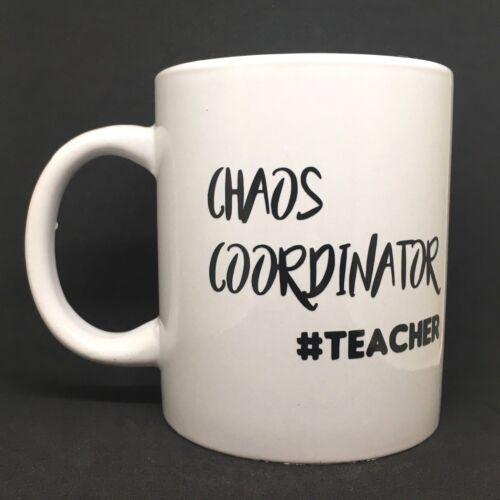 Ideal DIY Teacher Gift CHAOS COORDINATOR #TEACHER Vinyl Decal Sticker