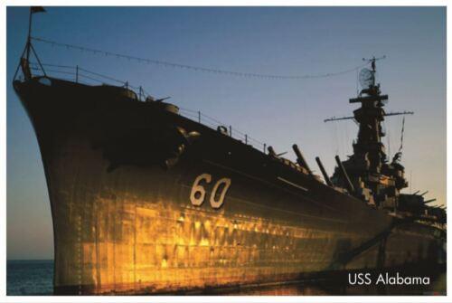 Military Warship POSTER Navy Battleship USS Alabama