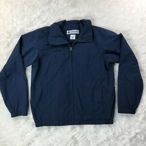 Columbia Sportswear Zip Front Lightweight Jacket Mens Medium Blue Zip Pockets