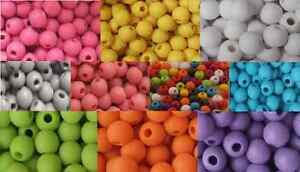 400-Colour-Acrylic-Opaque-Round-Frosted-Beads-6mm