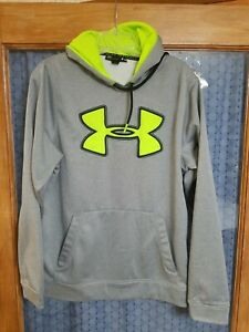 NWT UNDER ARMOUR JACKET HOODIE SWEATSHIRT LOOSE FIT GRAY WOMENS SMALL