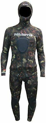 Palantic Spearfishing Neoprene Camouflage Stretch Max 5mm Two Piece Farmer Jo...
