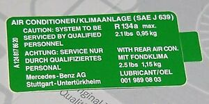 Genuine MERCEDES Sprinter Vito Guide Sign Note For Airbag On Driver 2208170620