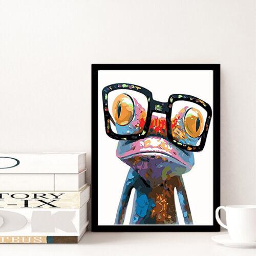 5D DIY Diamond Painting Frog Cross Stitch Kits Full Rhinestones Home Decor FR