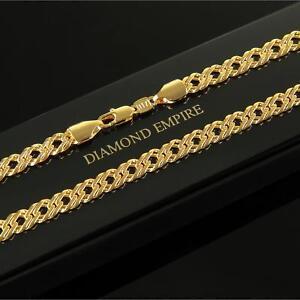 Cadena-Collar-56-cm-x-6mm-banado-en-oro-750-18-quilates-mujer-hombre-k1997