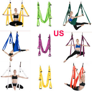 image is loading large solid aerial yoga swing sling hammock hanging  large solid aerial yoga swing sling hammock hanging inversion      rh   ebay