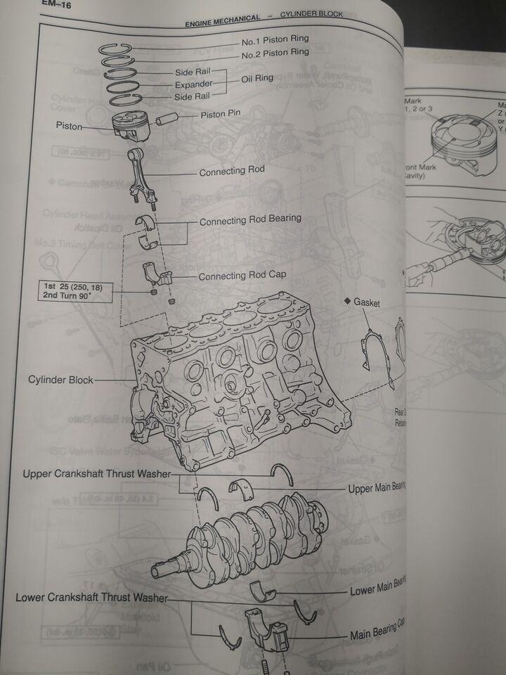 (101)Værkstedsbog, Toyota Avensis motorbog