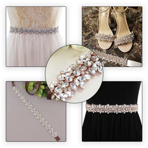 Apliques de diamante de imitación de diamante Motif Coser//hierro en vestidos de Novia Adorno De Bricolaje