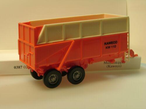2a orange Wiking KAWECO Muldenkipper 0387 02-1//87
