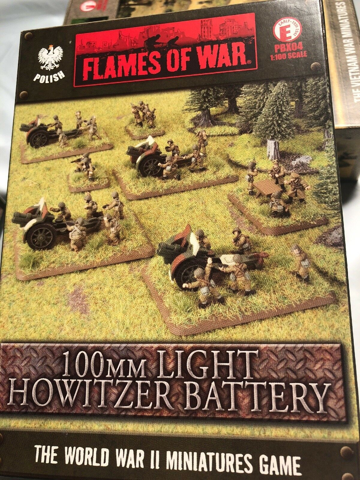 FLAMES OF WAR PBX04 1 100 SCALE 100MM LIGHTHOWITZER BATTERY