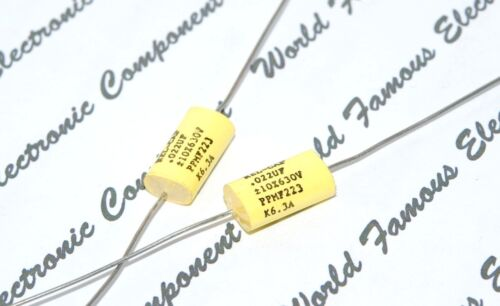 0.022µF 22nF REL-CAP PPMF 0.022uF 1pcs 630V 10/% Axial Capacitor FOR AUDIO