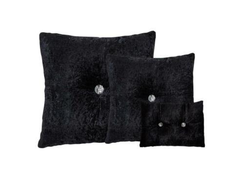 Modern Crushed Velvet Filled Cushion Sofa /& Chair Decorative Diamond Cushions