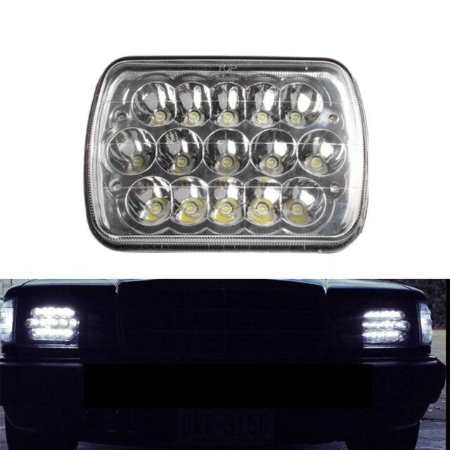 45W 7x6 Sealed Beam LED Headlight Kenworth Ford Yugo XJ & YJ Subaru FREIGHTLINER