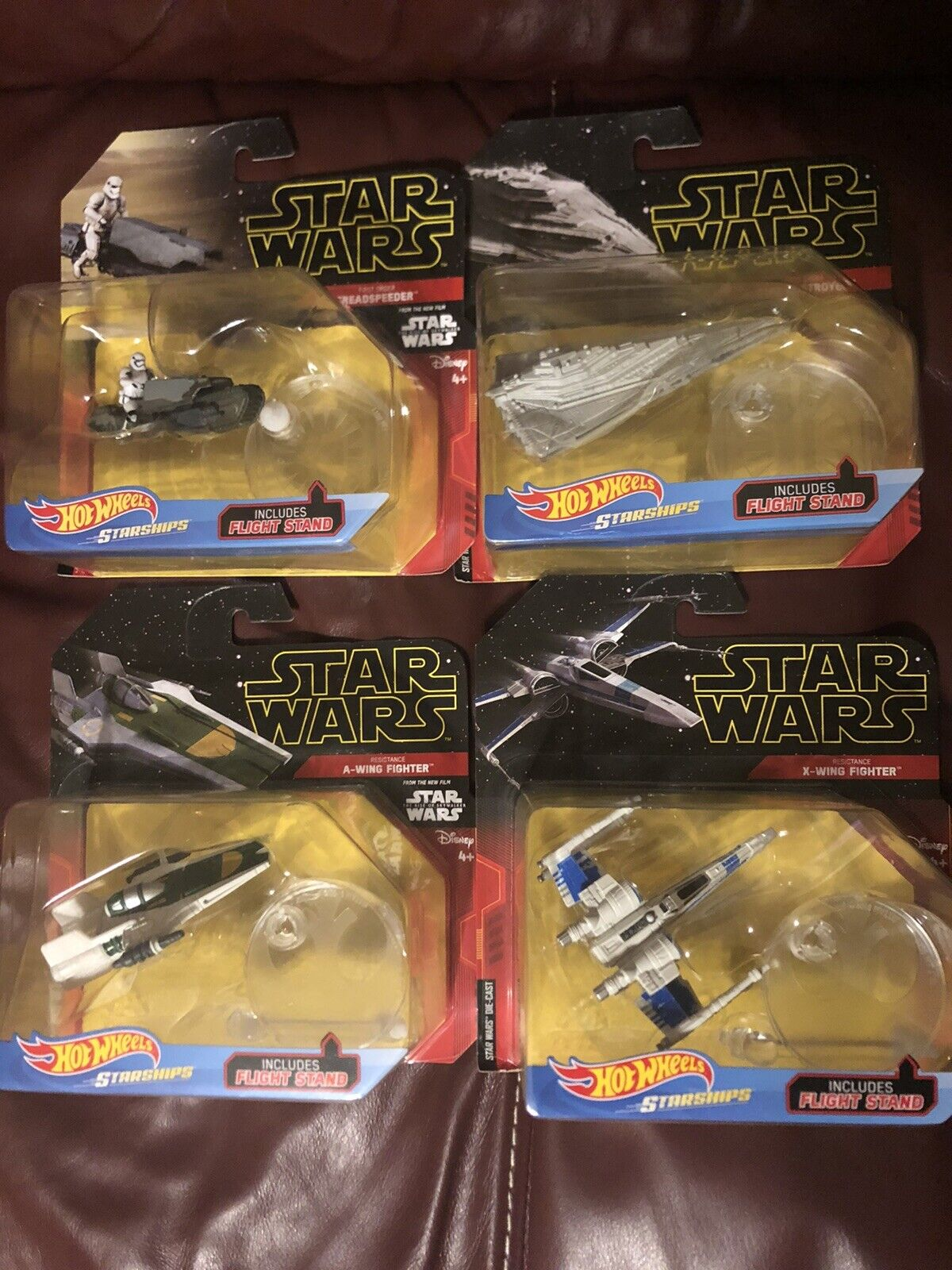 Hot Wheels Star Wars RISE OF SKYWALKER-A Wing Treadspeeder Star Destroyer X Wing