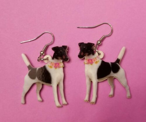 New Smooth Fox Terrier Dog fun earrings  jewelry FREE SHIPPING