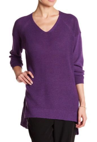 NEW Eileen Fisher Drop Shoulder Wool Sweater- purple size L