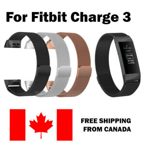 For-Fitbit-Charge-3-Band-Stainless-Milanese-Replacement-Wrist-Smart-Watch-Band
