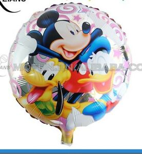 MICKEY-MOUSE-DINGO-DONALD-DUCK-4-Ballons-Cartoon-Helium-Fete-Anniversaire-Disney