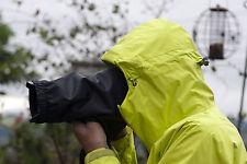 Camera rain cover fits Nikon Canon 24-70 f2.8 + 7D 5D 60D Black Velcro fastening