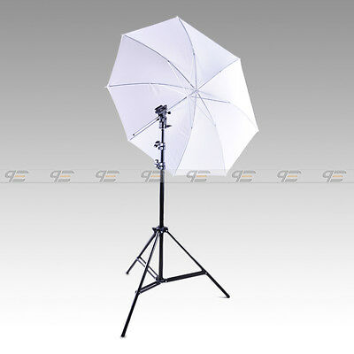 Photo Studio Light Stand White Umbrella Flash Mount  Speedlite set kit