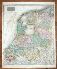 NETHERLANDS, HOLLAND, NEDERLAND, THOMSON original antique map 1817