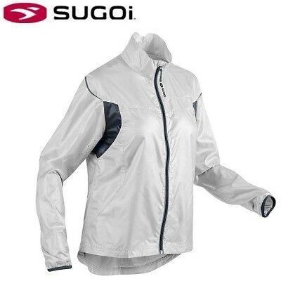 Sugoi Helium Lightweight Women's Cycling Jacket White Smoke S M L