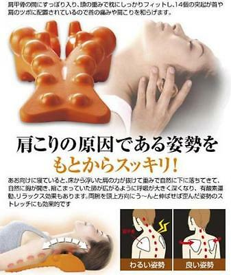 Sukkiri Pillow Neck and Shoulder Massager Back spine pain relief physio Japan