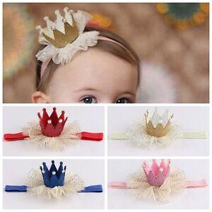 Cute Kids Baby Girls Lace Crown Hair Band Headband Hairband Headwear Accessories
