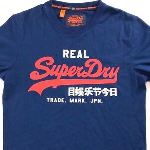 myyntipisteiden myynti saada uutta Tarkista Details about SuperDry Real Super Dry M T-Shirt Medium Mens Navy Blue Japan  Vintage Goods Jpn