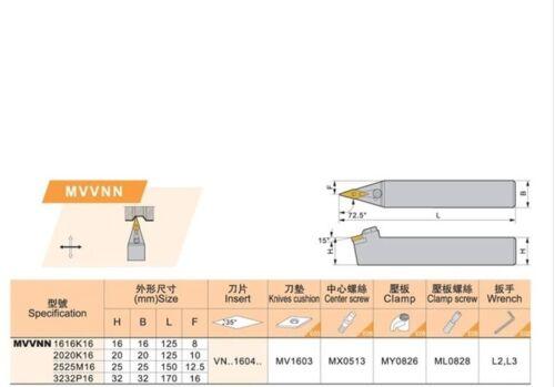 10pcs MVVNN 1616K16 10pcs MVVNN 2525M16 10pcs MVVNN 2020K16
