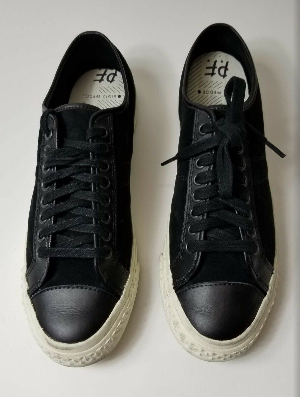 New Men's PF Flyers Rambler Lo Fashion Sneaker, color is  Black, 12 D US