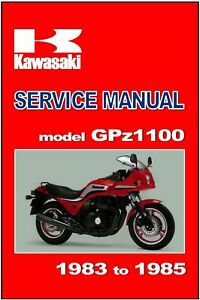 Manual De Suplemento De Kawasaki Zx1100 Gpz1100 1983 1984 Y 1985 Taller Reparacion Ebay