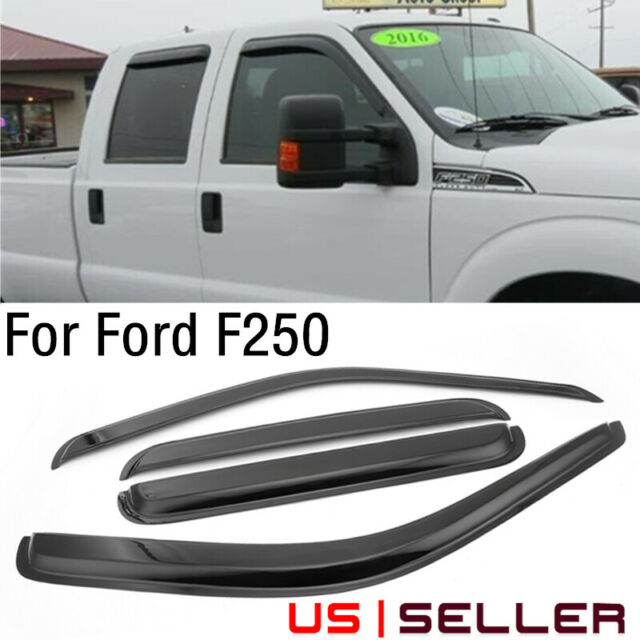 F250 AVS 2Pc Window Vent Visor Stainless 12068 Fit 80-96 Ford Bronco F150 F350