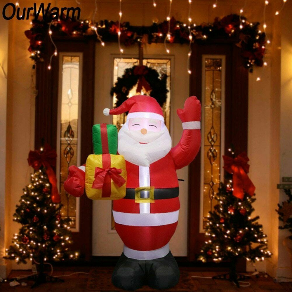 Inflatable Santa Claus Outdoor Christmas Decoration Home Yard Garden New Year